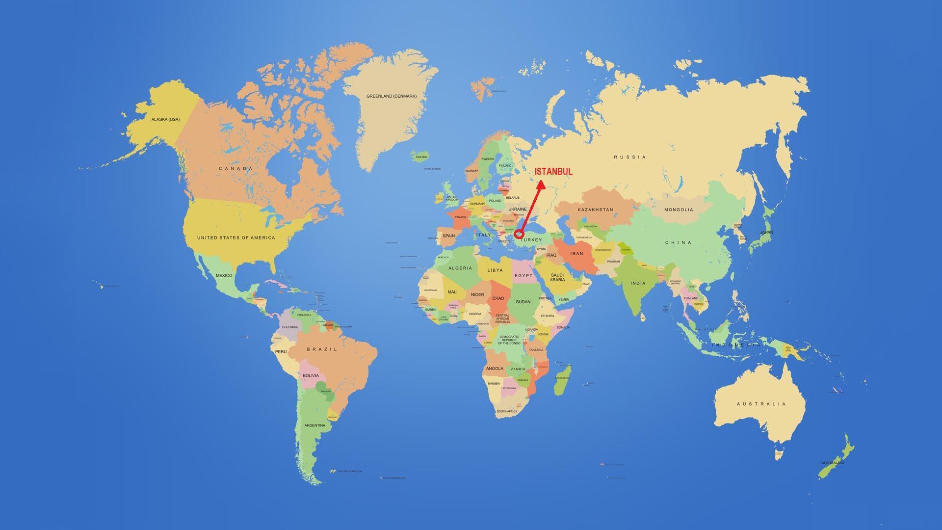 Istanbul on world map - Istanbul turkey world map (Turkey)